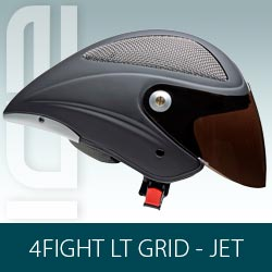 Capacete Icaro 4Fight Grid LT (long tail) Jet