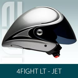 Capacete Icaro 4Fight LT (long tail) Jet