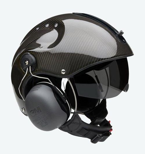 Capacete Icaro Pro Copter - Carbon Optic - Paramotor e Ultraleve